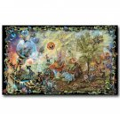 Psychedeli C Trippy Magic Fairies Gnomes Abstract Art Poster 32x24