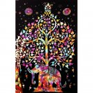 Psychedelic Trippy Abstract Art Poster Elephant Tree 32x24