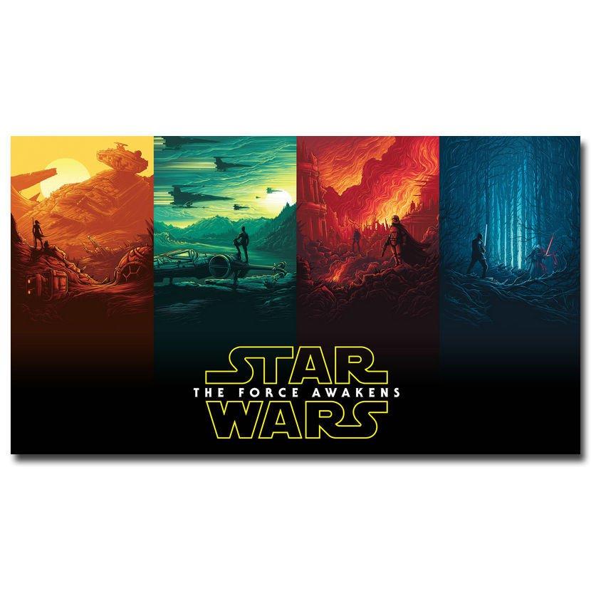 Star Wars 7 Force Awakens Movie Poster Skywalker Kylo Ren 32x24