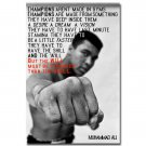 Muhammad Ali Motivational Quote Boxing Art Poster 32x24