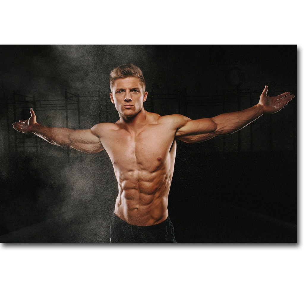 Steve Cook Fitness Physique Models Bodybuilding Poster 32x24