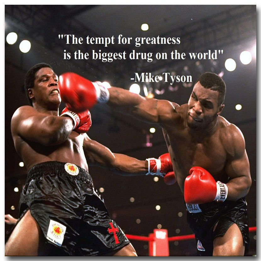 Mike Tyson Motivational Quotes Boxing Fabric Poster Print 32x24