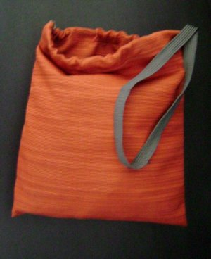 Striped Drawstring Tote