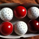 New Red & White Reverse Swing Practice Conforming to MCC Regulation leather cricket balls pack of 6