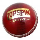New Red CI Topspin 156 GM Conforming to MCC Regulation leather cricket balls pack of 6 for 25 overs