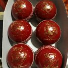 New Red special Match 156 GM MCC Regulation leather cricket balls pack of 6 for 30 overs