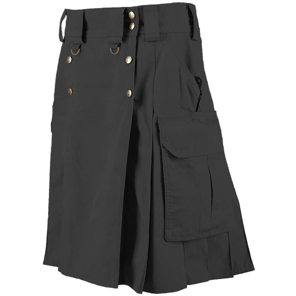 New Tactical Men's Combat Cargo Uniform Battle Utility Unisex Black Kilt Size 40