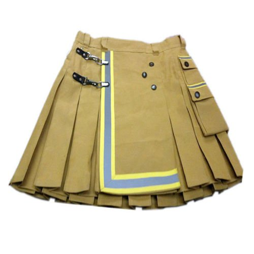 New Fireman Tactical Utility Duty Khaki 100 % Cotton Kilt Size 36