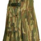 New DC Mens Active Stylish Leather Strap Camo Utility Fashion Kilt 100% Cotton size 46