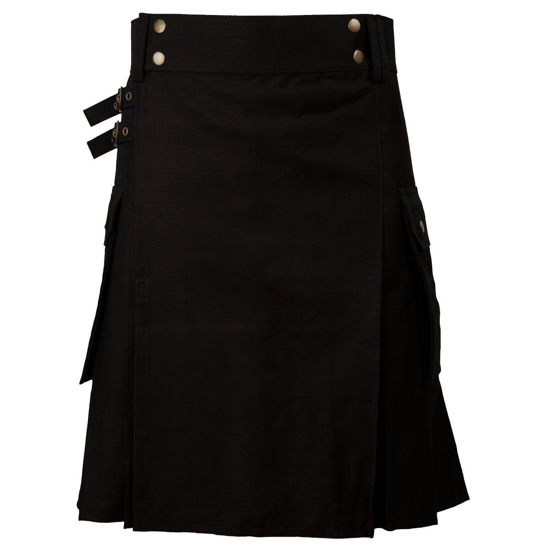 New DC stylesh Great Gift Casual Military 5 Yard Utility Black Kilt size 32