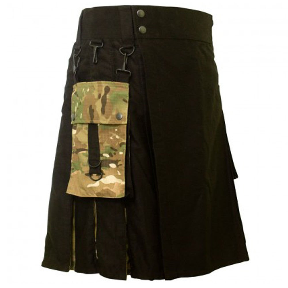 DC active men military cotton combo highlander utility kilt size 46