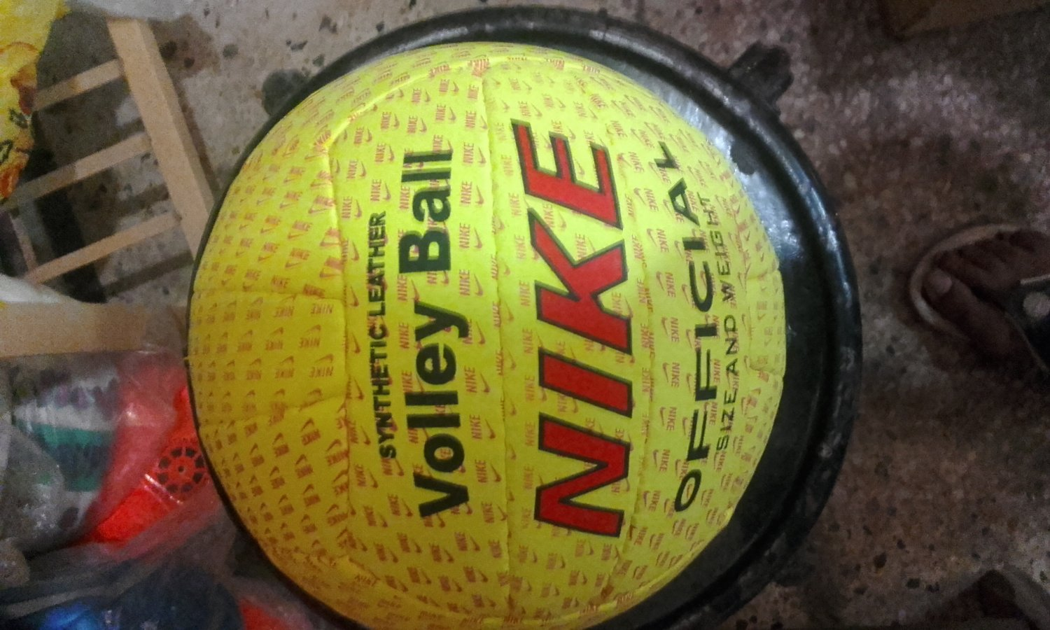 NIKE SYNTHETIC LEATHER BEACH VOLLEY BALL REPLICA OFFICIAL SIZE AND WEIGHT YELLOW COLOURE