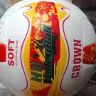 HB CROWN SOFT LEATHER BEACH VOLLEY BALL OFFICIAL SIZE AND WEIGHT WHITE COLOURE