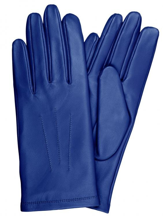 DC 006 REAL GOAT SKIN LEATHER DRIVING FASHION DRESS GLOVES SOFT ROYAL BLUE SIZE S