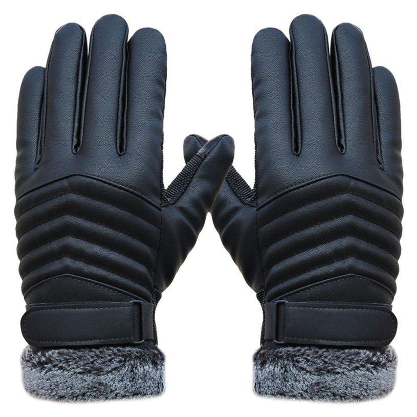 New DC ld27 Ladies  Black Lamb Skin Leather Fashion Driving Gloves Size l