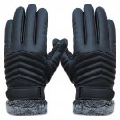New DC ld27 Ladies  Black Lamb Skin Leather Fashion Driving Gloves Size l
