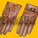New DC 0042 Genuine Lambskin Leather Driving Fashion Soft Lining size s