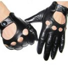 DC P28 Nice Quality Men's Real Goatskin Leather 4 holes Driving Gloves Size M