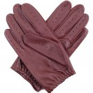 Real Lambskin Leather Classic Driving Gloves BARK Size M