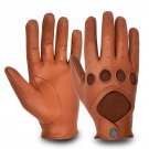 REAL LEATHER MEN'S DRIVING GLOVES STYLE  CLASSIC VINTAGE Size 2XL