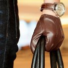 REAL LEATHER MEN'S DRIVING GLOVES STYLE  CLASSIC  Size S