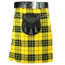 New active Handmade Scottish Highlander kilt for Men in Macleod of Lewis size 32 coloure yellow