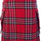 DC Scottish Highland Active wear Men Royal stewart Modern utility pocket kilt size 36