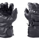 Black Motorbike Motto GP Leather  Racing Glove Protected Racing Glove Size XS