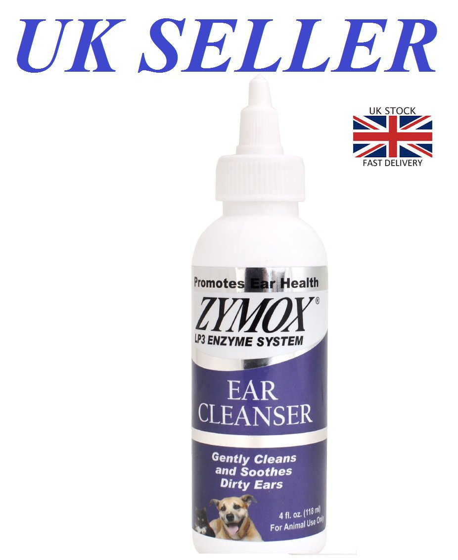 """Zymox Ear Cleanser for Cats & Dogs LP3 Enzyme System Cleans Soothes Dirty Drops  """"UK SELLER"""""""