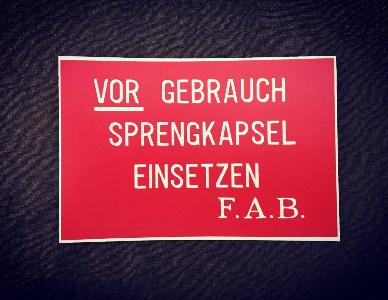 WWI German  Stencil for Stielhandgranate �17