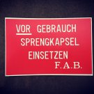 WWI German  Stencil for Stielhandgranate М17
