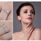 Infinity Forever Ring Pure 925 Sterling Silver For Women Size 8
