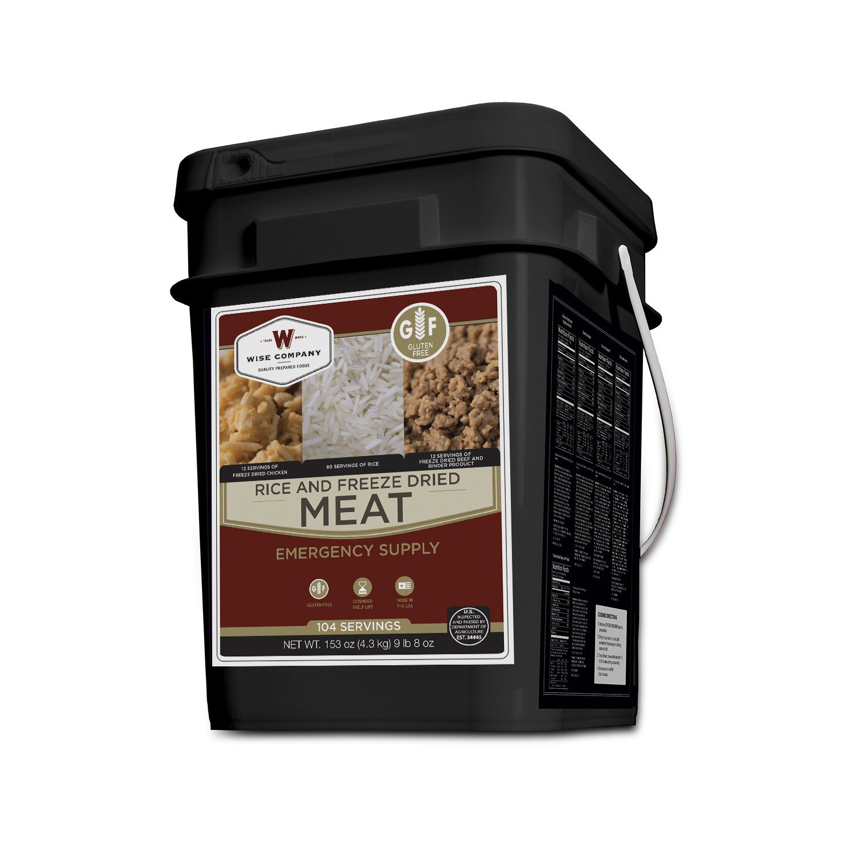 Freeze Dried Meat Bucket - 104 Servings Gluten Free