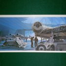 Vintage Star Wars Art 1980 ESB Ralph McQuarrie Portfolio Print #7 Falcon Ready on Hoth