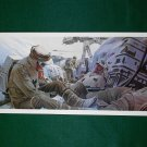Vintage Star Wars Art 1980 ESB Ralph McQuarrie Portfolio Print #9 Rebels Fight on Hoth