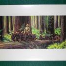 Vintage Star Wars Art 1982 ROTJ Ralph McQuarrie Print #11 C-3PO Meets Ewocks Premium Print