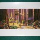 Vintage Star Wars Art ROTJ Ralph McQuarrie Print #14 Ewocks Battle Endor Premium Print