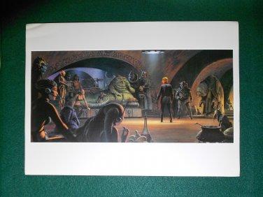 """Vintage Star Wars 1982 Art ROTJ Ralph McQuarrie Print #3 Luke �Jedi Knight"""" at Jabba"""