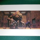 Vintage Star Wars Art 1982 ROTJ Ralph McQuarrie Print #6 Luke vs. Rancor Monster