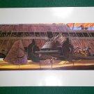 Vintage Star Wars Art 1982 ROTJ Ralph McQuarrie Print #7 Jabba the Hutt,s  Desert Barge