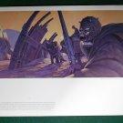 Vintage Star Wars Art 1977 ANH Ralph McQuarrie Portfolio Print #19 Tusken Raiders