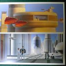 "Vintage Star Wars Art 1980 ESB Ralph McQuarrie ""Cloud Car/City"" Lot Prints #20 & 21"