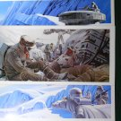 "Vintage Star Wars Art 1980 ESB Ralph McQuarrie Portfolio - ""Fight on Hoth"" Lot Prints #3,6 & 9"