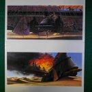 Vintage Star Wars Art 1982 ROTJ Ralph McQuarrie Portfolio Prints Dessert Skiff Lot 2
