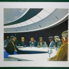 Battlestar Galactica Ralph McQuarrie Portfolio Art #1 Meeting on the Bridge