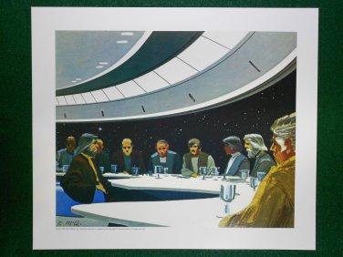 Battlestar Galactica Ralph McQuarrie Portfolio Art #1 Meeting on the Bridge