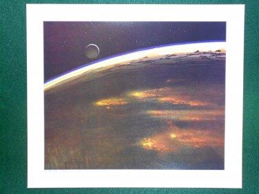 Battlestar Galactica Ralph McQuarrie Portfolio Art Print #10 Caprica Destroyed