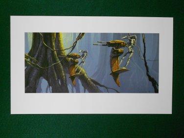 Star Wars Phantom Menace 1999 Doug Chiang Folio Print #7 Strap with Battle Droid