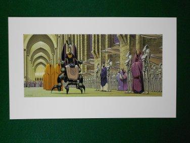 Star Wars Phantom Menace 1999 Doug Chiang Portfolio Print #9 Royal Court