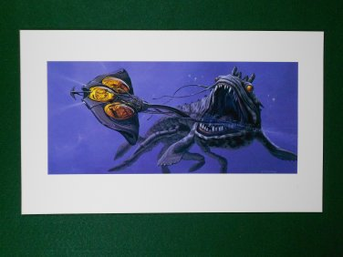 Star Wars Phantom Menace 1999 Doug Chiang Portfolio Print #10 Opee Monster